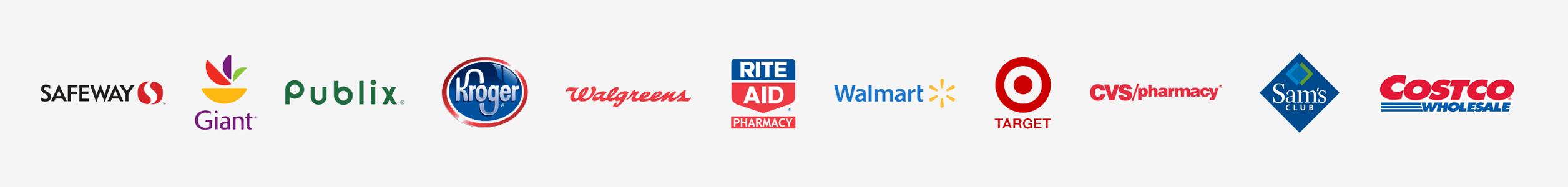 Available at most U.S. pharmacies including CVS, Walgreens, Rite Aid, Walmart, Target, Kroger, Kmart, Publix, Safeway, Sam's Club, and many more.